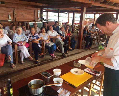 Demostració de la cuina d'Ostres